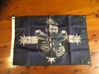 printed poster banner Wallhang art garage man cave flag Ned kelly outlaw biker