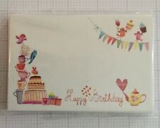 25 Florist Message Cards - vintage tea party Happy Birthday Message!