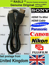 HDMI Cable Original Sony Fit FujiFilm FinePix S1 S9900W S9800 S8600 Camera