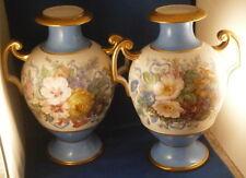 Pair of Paris / Limoges Porcelain Vase s Porcelaine de Vieux Porzellan French
