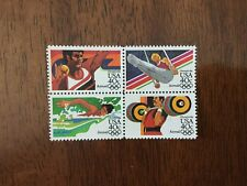 US C105-108, 1984 Olympics 40c Air Mail block of 4 MNH