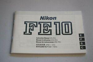 Nikon FE10 instruction manual