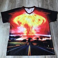 Mr. 1991 Inc & Miss ir hongo atómico en la nube de doble cara gráfico camisa tamaño XL
