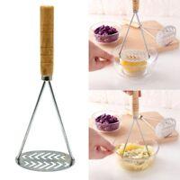 Neu Premium Qualität Edelstahl Kartoffelstampfer 25 cm Schlammpresse Gerät Küche