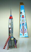 Space Rocket Tin Toy Mechanical Vintage Retro Collectable Mini Clockwork Gift UK