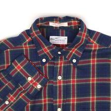 Gant Rugger Mens Shirt XS Blue Red Green Gold Plaid Cotton Button Down Collar
