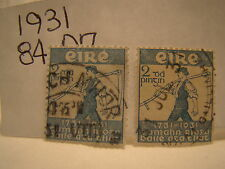Ireland Stamp 1931 Scott 84 A7 Royal Dublin Society 2 Stamps