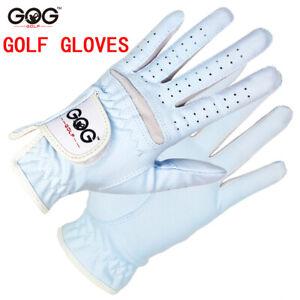 GOG 1pair golf glove women sports Tennis Baseball breathable blue professional