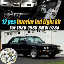 12Pc Super White Car Interior LED Light Bulb Kit Pack for 1986-1988 BMW 528e