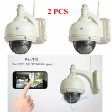 2pcs Wireless IP Camera PT Dome IR Night Vision WiFi IR-Cut Outdoor Security Cam