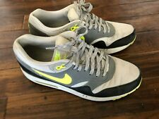 Nike Air Max 1 trainers in grey and volt colour -  UK8
