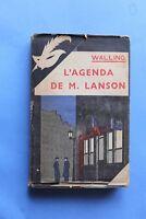 MASQUE JAQUETTE Poste de Police 67 Walling L' Agenda de M. Lanson