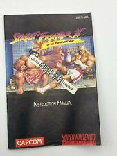 Street Fighter II Turbo Super Nintendo SNES 1993 Manual Only