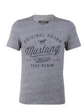 Mustang Herren T-Shirt Basic Print Rundhals Tee 100% Baumwolle