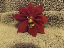 Lot Poinsettia Flower with Bell Ribbon Bows Free Shipping