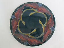 Signed Plate Platter Leaves Round Perhaps Moorcroft or Majolica inspired Rare Pc