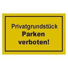 Verbotsschilder Privatgrundstück parken