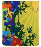 Marijuana Mushroom Blanket MMJ Weed Pot 420 Stoner Throw Blanket New Super Soft