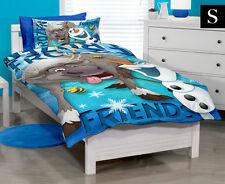 SINGLE BED DISNEY FROZEN OLAF SVEN FRIENDS QUILT DOONA COVER SET INC PILLOWCASE!