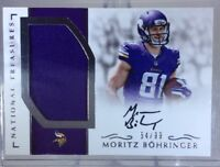 2016 National Treasures Rookie MORITZ BOHRINGER Patch On-Card Auto 54/99 Vikings