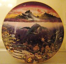 Full Set 12 Collector Plates by Robert Lyn Nelson, Underwater Paradise inc Certs