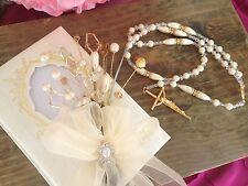BIBLIA Y ROSARIO ivory Color /Libro Y Rosario / Bible And rosary Wedding Gift/