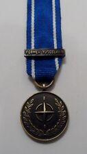 NATO IFOR Miniature Medal, Former Yugoslavia Mini, Bosnia, Ribbon,Clasp