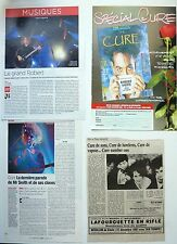 THE CURE / ROBERT SMITH  => Lot 4  coupures de presse !!! FRENCH CLIPPINGS