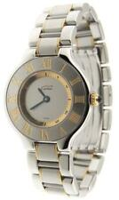 Mint Ladies Cartier Must 21 1340 18K Yellow Gold & Stainless Steel 28mm Watch