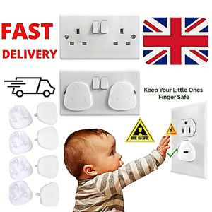 8 Child Safety UK Plug Socket Covers Mains Electrical Protector Inserts Guard