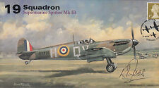 AV600 WWII 19 Sqn Supermarine Spitfire RAF Battle of Britain signed JONES
