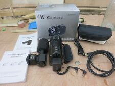 4K Andoer Hdv-524Km mini Camcorder with all accessories and shotgun microphone