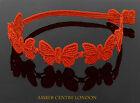 Prodotto In Italia Cruciani bracciale- farfalla-LIBERTA libertà-arancio