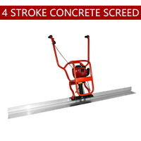 4 Stroke Gas Power Concrete Surface Vibratory Leveling Screed 6.56' Tamper blade
