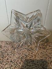 Glass Star Pillar Candle Holder