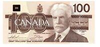"""$100 Dollar Bank of Canada Banknote -1988   UNC Grade """"BJG2703571"""""""