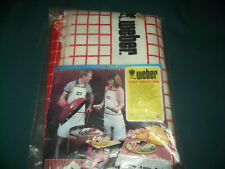 """Weber Bbq/ Picnic retro new 94% 6% polyester cotton terry tablecloth 54"""" x 70"""""""