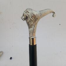 Designer Brass Lion Head Handle Walking Stick Antique Style Walking Cane