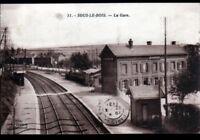 SOUS-le-BOIS / MAUBEUGE (59) QUAI de GARE & VILLAS en 1931
