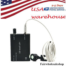 Portable Black LED Head Light Lamp for Dentist Dental Loupes 2-5 DAYS To USA