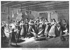 Pfullingen, Hochzeits-Orakel an Weihnachten, Original-Holzstich von 1864