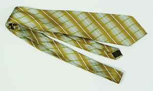 Mario Masotti Silver & Gold Patterned Handmade Silk Tie