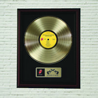 """Rolling Stones """"Tattoo You"""" Framed Cherry Wood  LP Record Display """"M4"""""""