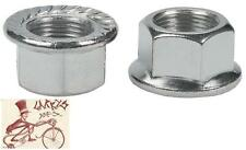 WHEELS MANUFACTURING 14MM X 1 STEEL AXLE BICYCLE NUTS--1 PAIR