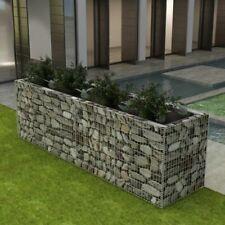 "vidaXl Gabion Planter Steel 141.7""x35.4""x39 .4"" Patio Flower Plant Bed Basket"
