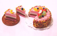 1:12 Sliced Strawberry Layer Cake Dolls House Miniature Kitchen Accessory SC1