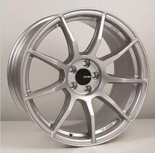 17x8/9 Enkei TS9 5x100 +45 Silver Rims Fits Scion Frs Brz Golf Jetta