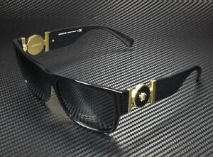 VERSACE VE4369A GB1 87 Black Grey 58 mm Men's Sunglasses