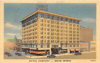 Macon Georgia 1939 Postcard Hotel Dempsey