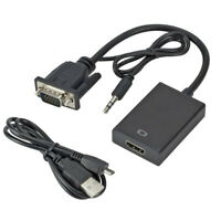 1080P HD Audio HDTV Video Cable VGA Male to HDMI HD Video Converter Cable Output